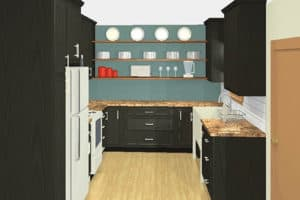 3D Rendering Kitchen